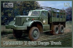 IBG Diamond T968/968A Cargo Truck New Tool Plastic Model Military Vehicle Kit 1/72 Scale #72019