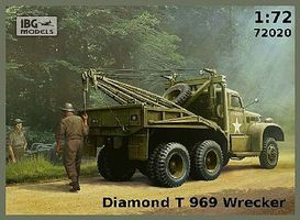 IBG Diamond T 969 Wrecker Truck Plastic Model Military Vehicle Kit 1/72 Scale #72020