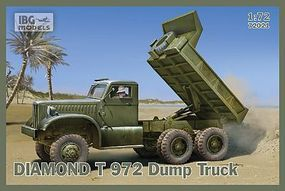 IBG Diamond T972 Dump Truck (New Tool) Plastic Model Military Vehicle Kit 1/72 Scale #72021