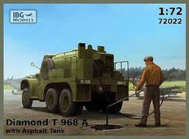 IBG Diamond T 968A Truck w/Asphalt Tank Plastic Model Military Vehicle Kit 1/72 Scale #72022