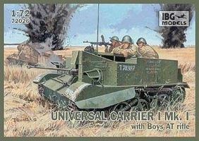 IBG Universal Carrier I Mk I Anti-Tank Rifle Plastic Model Military Vehicle Kit 1/72 #72026