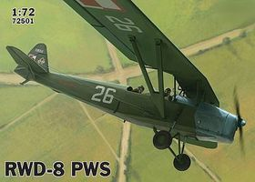 IBG RWD-8 PWS Polish Trainer Plane (Military) Plastic Model Airplane Kit 1/72 Scale #72501