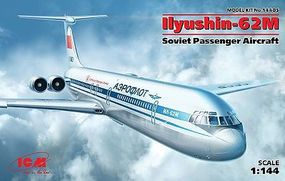 ICM Ilyushin IL62M Soviet Passenger Aircraft Plastic Model Airplane Kit 1/144 Scale #14405
