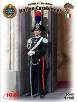 ICM Italian Carabinier Worlds Guard New Tool Plastic Model Military Figure 1/16 Scale #16003
