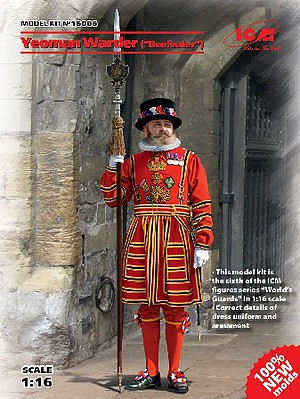 ICM Models 1/16 Yeoman Warder (Beefeater) Guard (New Tool)