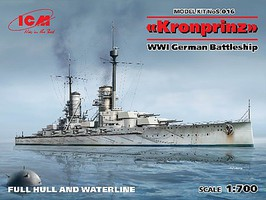 ICM WWI German Battleship Kronprinz Plastic Model Military Ship Kit 1/700 Scale #16