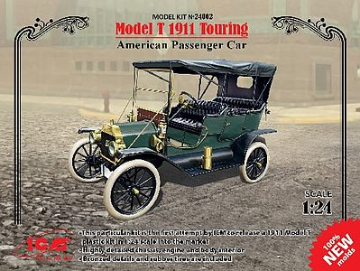 ICM Models Model T 1911 Touring American Passenger Car -- Plastic Model Car Kit -- 1/24 Scale -- #24002