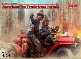 ICM 1/24 American Fire Truck Crew 1910s (2) (New Tool)