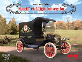 ICM Model T 1912 Light Delivery Car Plastic Model Car Kit 1/24 Scale #24008