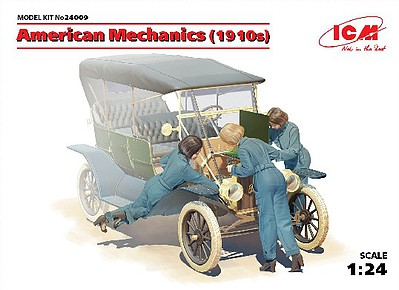ICM Models 1/24 American Female Mechanics 1910s (3) (New Tool)
