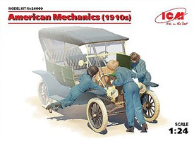 ICM American Female Mechanics 1910s (3) (New Tool) Plastic Model Figure Kit 1/24 Scale #24009