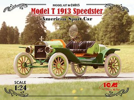 ICM American Model T 1913 Speedster Sports Car Plastic Model Car Kit 1/24 Scale #24015
