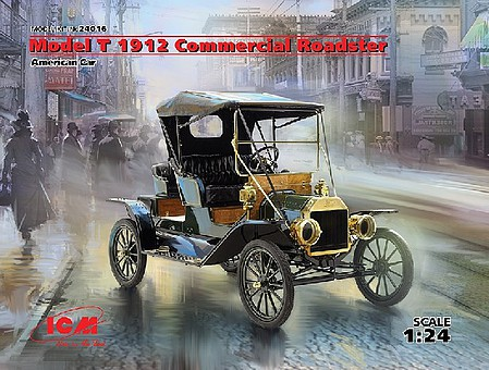 ICM American Model T 1912 Commercial Roadster Car Plastic Model Car Kit 1/24 Scale #24016