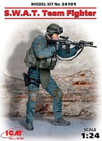 ICM SWAT Team Fighter (New Tool) Plastic Model Figure Kit 1/24 Scale #24101