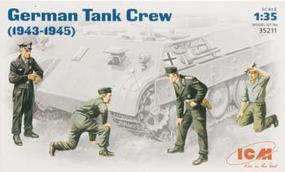 ICM WWII German Tank Crew (4) Plastic Model Military Figure 1/35 Scale #35211