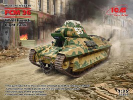 ICM WWII FCM36 French Light Tank 1-35