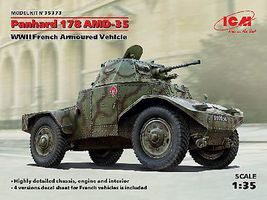 ICM WWII Panhard 178 AMD35 French Armored Vehicle Plastic Model Military Vehicle 1/35 #35373