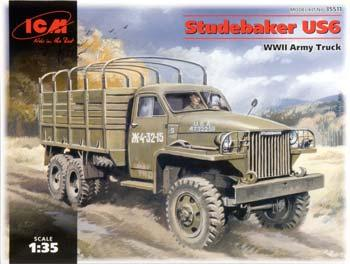 ICM WWII Studebaker US6 Army Truck Plastic Model Military Truck Kit 1/35 Scale #35511
