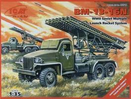 ICM BM13-16N Soviet Multiple Launch Rocket System Plastic Model Military Truck Kit 1/35 #35512