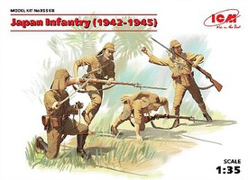 ICM WWII Japanese Infantry with Weapons 1942-45 Plastic Model Military Figure 1/35 #35568
