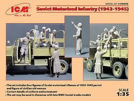 ICM Soviet Motorized Infantry 1943-1945 Plastic Model Military Vehicle Kit 1/35 Scale #35635