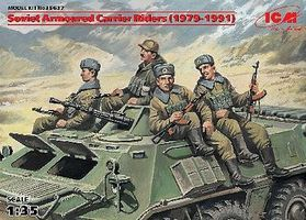ICM Soviet Armored Carrier Riders 1979-1991 (4) - Plastic Model Military Figure 1/35 #35637