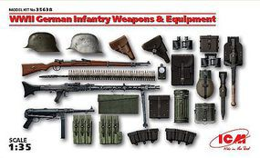 ICM WWII German Infantry Weapons & Equipment Plastic Model Weapon Kit 1/35 Scale #35638