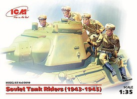 ICM Soviet Tanks Riders 1943-1945 (4) (New Tool) Plastic Model Military Figure Kit 1/35 #35640