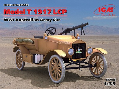 ICM WWI Australian Model T 1917 LCP Army Car Plastic Model Kit 1/35 Scale #35663