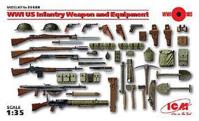 ICM WWI US Infantry Weapon & Equipment (New Tool) Plastic Model Weapon 1/35 Scale #35688