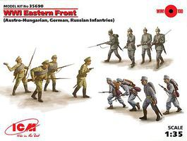 ICM WWI Eastern Front Figures Plastic Model Military Figure 1/35 Scale #35690