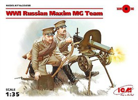 ICM 1/35 WWI Russian MG Team (2) w/Maxim 1910 MG, Weapons & Equipment