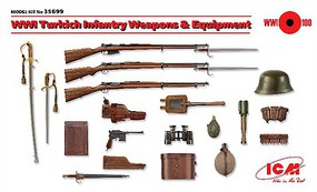 ICM WWI Turkish Infantry Weapons & Equipment Plastic Model Weapon Kit 1/35 Scale #35699