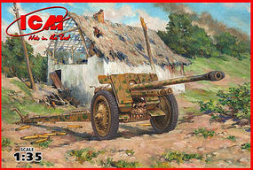 ICM WWII 7,62cm PaK 36(r) German Anti-Tank Gun Plastic Model Artillery Kit 1/35 Scale #35701