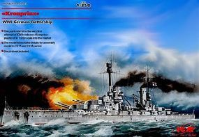 ICM WWI German Kronprinz Battleship Plastic Model Battleship Kit 1/350 Scale #3