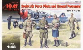 ICM Soviet AF Pilots & Ground Personnel 1943-45 (7) Plastic Model Military Figure 1/48 #48084