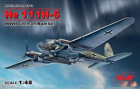 ICM WWII German He111H6 Bomber Plastic Model Airplane Kit 1/48 Scale #48262