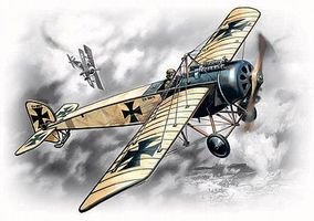 ICM WWI Pfalz E IV German Fighter Plastic Model Airplane Kit 1/72 Scale #72121