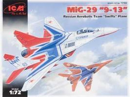 ICM MiG29 9-13 Russian Aerobatic Team Swifts Aircraft Plastic Model Airplane Kit 1/72 #72142