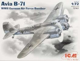 ICM WWII Avia B71 German AF Bomber Plastic Model Airplane Kit 1/72 Scale #72163