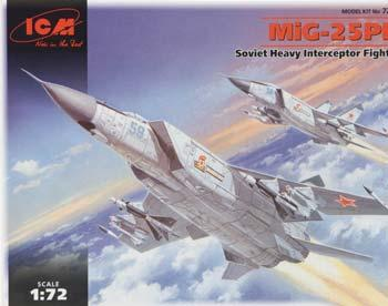 ICM Models MiG25PD Soviet Heavy Interceptor Fighter -- Plastic Model Airplane Kit -- 1/72 Scale -- #72171