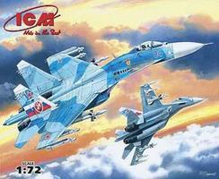 ICM Su27 Russian Fighter Plastic Model Airplane Kit 1/72 Scale #72221