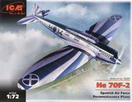 ICM He-70F-2 Spanish Air Force Recon Plane Plastic Model Airplane Kit 1/72 Scale #72231