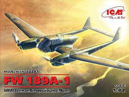 ICM WWII German Fw189A1 Recon Aircraft (New Tool) Plastic Model Airplane Kit 1/72 Scale #72291