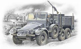 ICM Krupp L2H143 Kfz 70 German Light Army Truck Plastic Model Truck Kit 1/72 Scale #72451