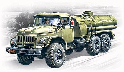 ICM ATZ4-131 Military Fuel Truck Plastic Model Military Truck Kit 1/72 Scale #72813