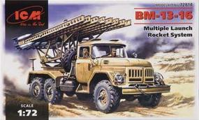 ICM BM13-16 Multiple Launch Rocket System Vehicle Plastic Model Military Truck Kit 1/72 #72814