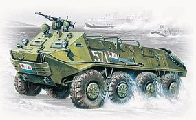 ICM BTR60P Soviet Armored Personnel Carrier Plastic Model Personnel Carrier Kit 1/72 #72901