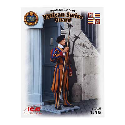 ICM Models Vatican Swiss Guard -- Plastic Model Military Figure Kit -- 1/16 Scale -- #16002