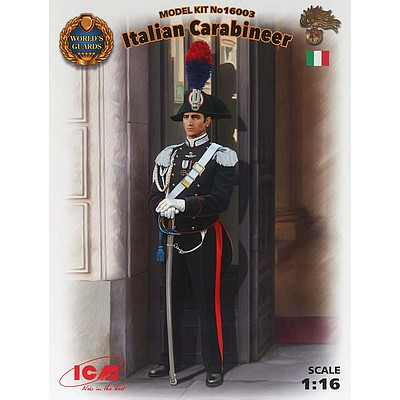 ICM Models Italian Carabinier -- Plastic Model Military Figure Kit -- 1/16 Scale -- #16003